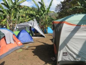 Camp site in Costa Rica during Envision Fest 2016
